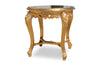 Brielle French Baroque Side Table - Gold