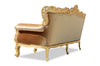 Belle de Fleur French 3 Seat Sofa - Gold