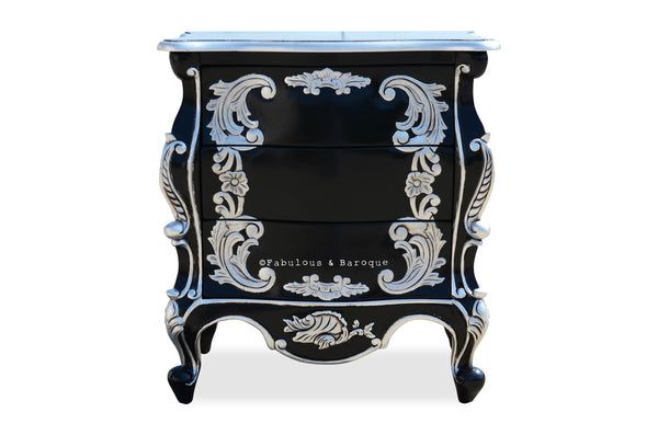 Night's Dream Side Table - Black & Silver