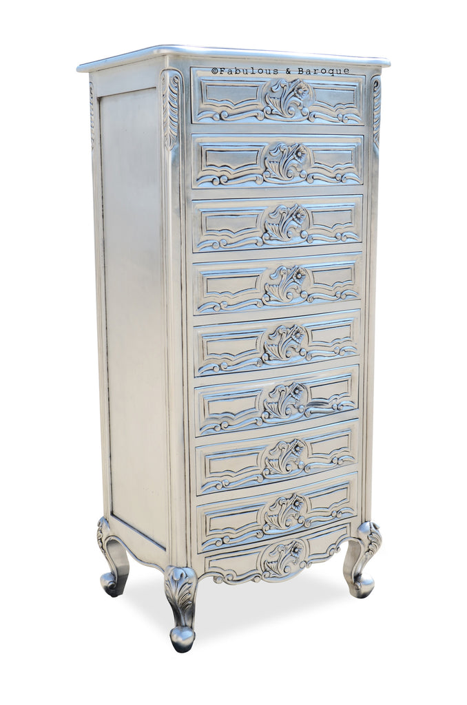 Frederique Accessory Chest - Silver Leaf