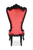 Gryphon Reine Side Dining Chair - Black & Red Velvet