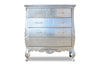Angelique 5 Drawer Chest - Silver leaf