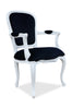Fabulous & Baroque's French Upholstered Armchair - White & Black