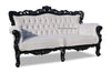 Belle de Fleur French Love Seat - Black & Grey Velvet
