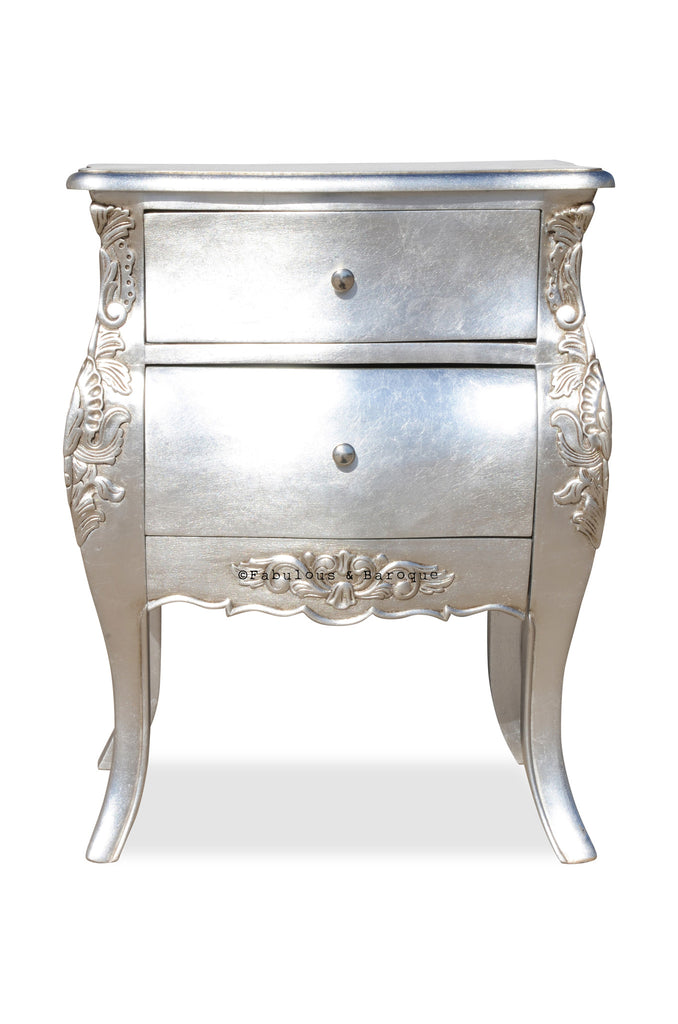 Bordeaux Side Table - Silver Leaf