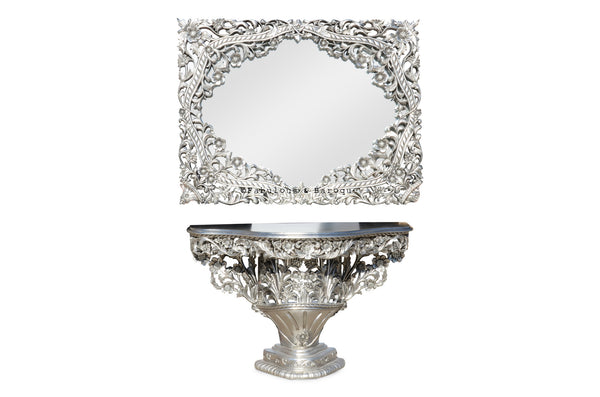 Fabulous 'Bouquet de Fleur' table & mirror