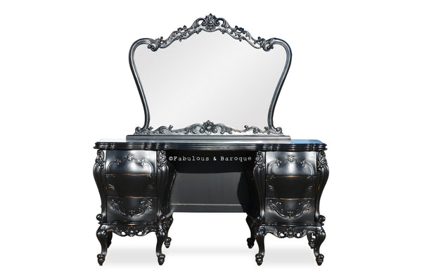 Gryphon Reine Dressing Table - Black Rustic