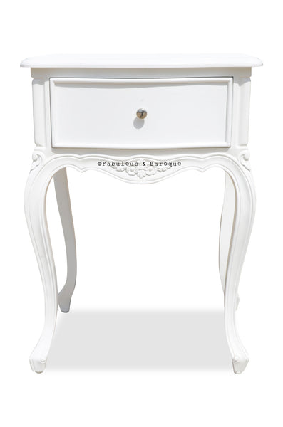 Sabine Side Table - White