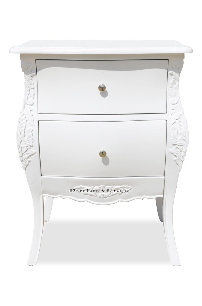Bordeaux Side Table - White