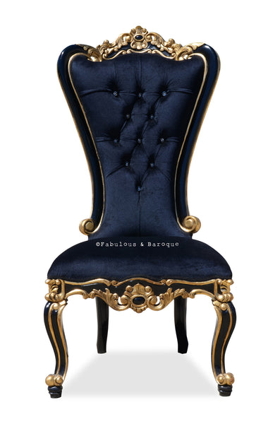 Absolom Roche Side Chair - Black & Gold