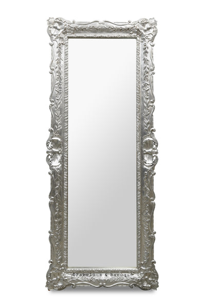 Monique Floor Mirror - Silver Leaf