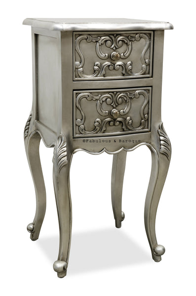Josephine Petite Side Table - Silver Leaf