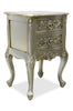 Cosette 2 Drawer Side Table - Silver Leaf