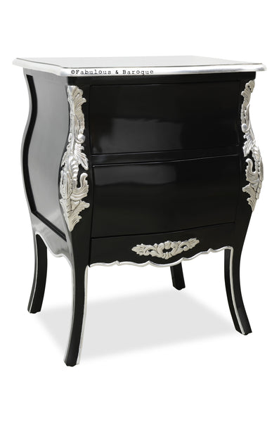 Bordeaux Side Table - Black & Silver