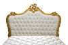 Babette Bed - Gold & White Velvet