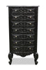 Frederique 7 Drawer Accessory Chest- Black