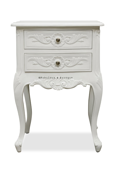 Cosette 2 Drawer Side Table - White