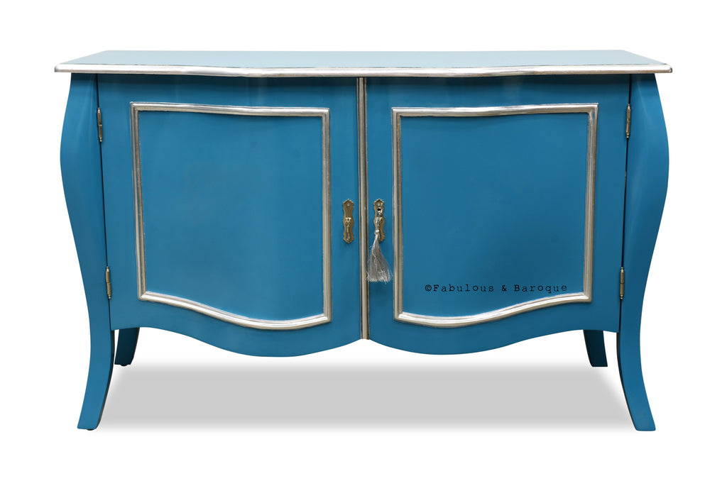 Estelle French Sideboard - Starlight Blue & Silver