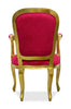 Fabulous French Upholstered Armchair - Fuchsia & Gold