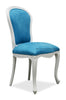 Fabulous French Side Chair - White & Bermuda Blue