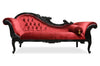 Queen Anne's Revenge Chaise - Black & Red