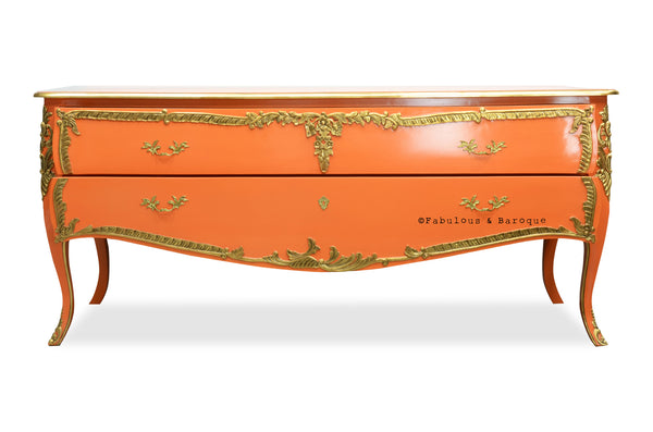 Louis xv commode coral gold fabulous and baroque - Grande commode baroque ...