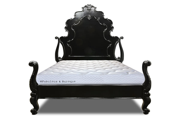 Camilla Carved Bed - Black