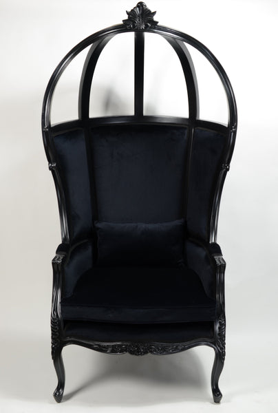Victoire Balloon Chair - Black OPEN CANOPY