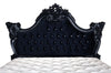 Royal Fortune Montespan Bed - Black Velvet Upholstery