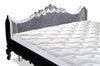 Gryphon Reine Upholstered Bed - White & Silver leaf w/ Grey Velvet