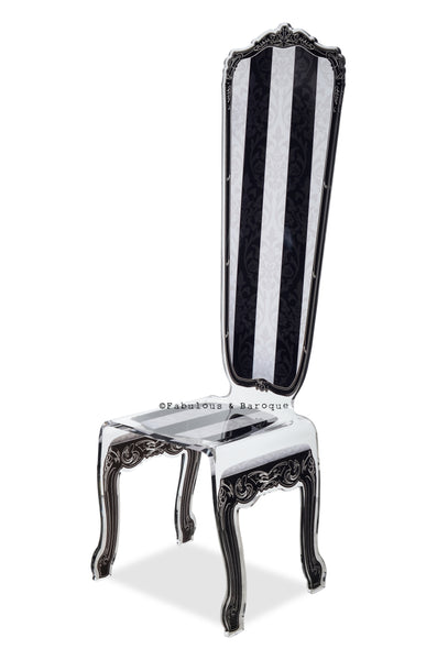 Baroque Chair - Custom High Back Striped