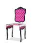 Charleston Chair - Pink with mini skulls