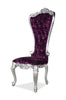 Gryphon Reine Side Chair - Silver & Purple Crushed Velvet