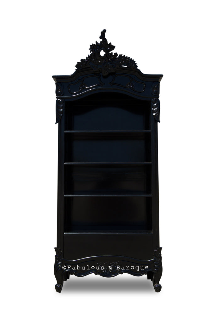 Brigitte French Open Bookcase - Black