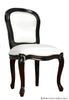 Fabulous French Side Chair - Black & White