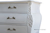 Bordeaux Bombay 6 ft Chest of Drawers  - White