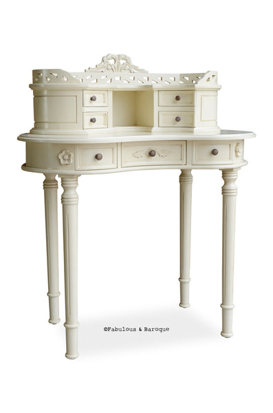 Fabulous and Baroque's Adelle Ladie's Desk - Ivory