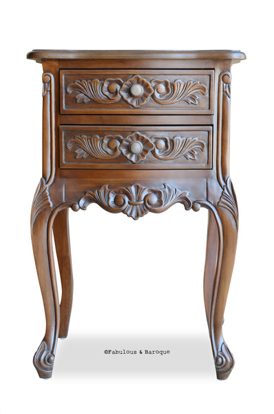 Cosette 2 Drawer Side Table - Stained
