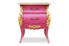 Fabulous & Baroque's Bordeaux Side Table - Fuchsia & Gold