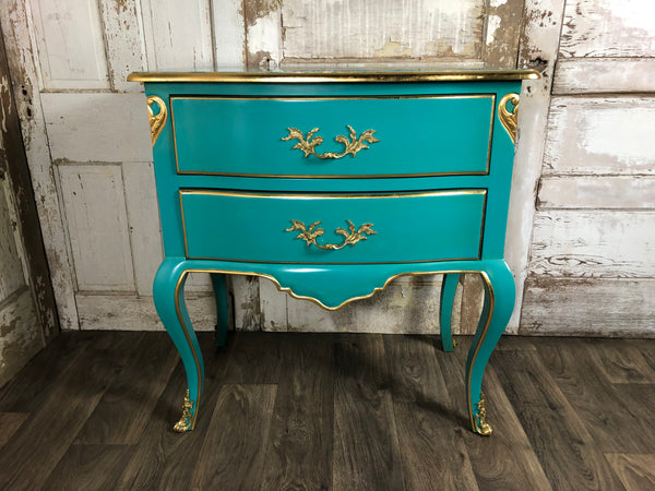 Delpine Accent Chest - Turquoise & Gold