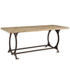 Effuse Rectangle Wood top Industrial Dining Table