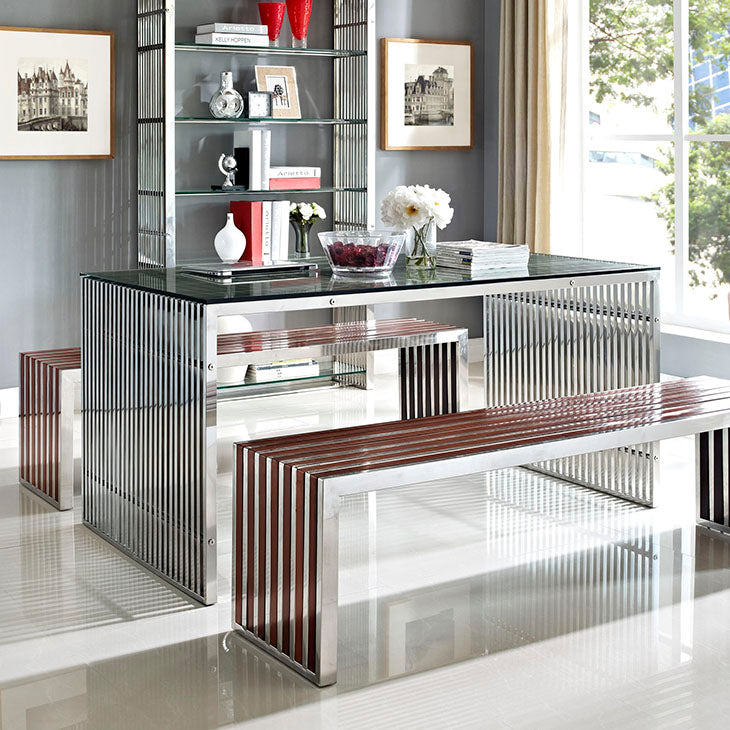 Gridiron Stainless Steel Table/Desk