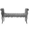 Adelia Chesterfield Tufted Velvet Bench *Available in Dark Grey, Light Grey, Navy, Teal & White