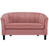Prospect Channel Tufted Velvet Loveseat *Available in Emerald, Navy, Teal, Light Blue, Grey, Blush & White