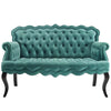 Viola Chesterfield Loveseat *Available in Navy, Blush, Grey & Teal