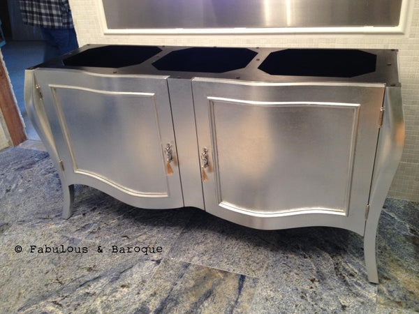Estelle French Sideboard - Silver & Hot Pink - Client Photo
