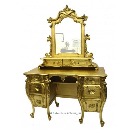 Fabulous & Rococo Dressing Table - Gold Leaf