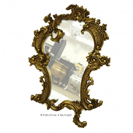 Claudette Mirror- Gold Leaf