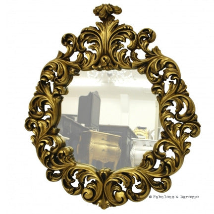 Antoinette Mirror- Gold Leaf