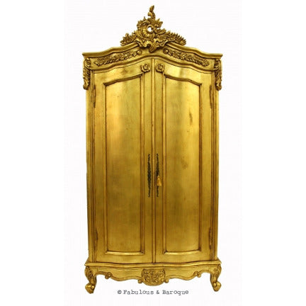 Cateline French Large Wardrobe - Gold Leaf